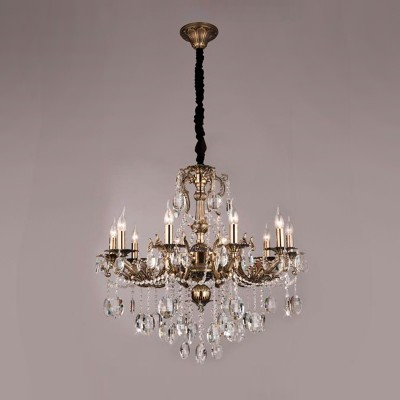 Люстра Bogateapos;s 406/10Подвесные<br><br><br>Установка на натяжной потолок: Да<br>S освещ. до, м2: 40<br>Крепление: Крюк<br>Тип лампы: накаливания / энергосбережения / LED-светодиодная<br>Тип цоколя: E14<br>Количество ламп: 10<br>MAX мощность ламп, Вт: 60<br>Диаметр, мм мм: 850<br>Высота, мм: 950 - 1350<br>Цвет арматуры: бронзовый