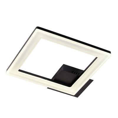Светильник Idlamp 407/1PF-LEDBlack SeviliaКвадратные<br>Настенно-потолочные светильники – это универсальные осветительные варианты, которые подходят для вертикального и горизонтального монтажа. В интернет-магазине «Светодом» Вы можете приобрести подобные модели по выгодной стоимости. В нашем каталоге представлены как бюджетные варианты, так и эксклюзивные изделия от производителей, которые уже давно заслужили доверие дизайнеров и простых покупателей.  Настенно-потолочный светильник IDLamp 407/1PF-LEDBlack станет прекрасным дополнением к основному освещению. Благодаря качественному исполнению и применению современных технологий при производстве эта модель будет радовать Вас своим привлекательным внешним видом долгое время. Приобрести настенно-потолочный светильник IDLamp 407/1PF-LEDBlack можно, находясь в любой точке России.<br><br>S освещ. до, м2: 13<br>Крепление: Потолочные<br>Тип лампы: LED<br>Тип цоколя: LED<br>Цвет арматуры: черный<br>Количество ламп: 1<br>Ширина, мм: 400<br>Длина, мм: 400<br>Высота, мм: 100<br>MAX мощность ламп, Вт: 33