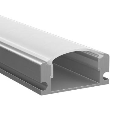 Светильник Lightstar 409429Накладной профиль для светодиодной ленты<br>Профиль  с прямоугольн. рассеивателем для светодиодн. ленты, материал: алюминий,  длина: 1шт=2м;<br>В комплекте 2 заглушки и 4 монтажные клипсы<br><br>Ширина, мм: 17<br>Длина, мм: 2000<br>Высота, мм: 8