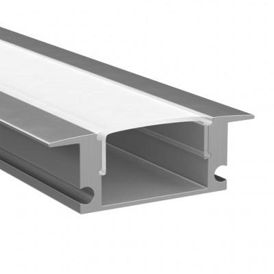 Светильник Lightstar 409529Встраиваемый профиль для светодиодной ленты<br>Профиль  с прямоугольн. рассеивателем для светодиодн. ленты, материал: алюминий, длина: 1шт=2м;<br>В комплекте 2 заглушки и 4 монтажные клипсы<br><br>Ширина, мм: 25<br>Длина, мм: 2000<br>Высота, мм: 7