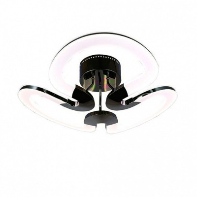 Светильник Idlamp 410/3PF-LEDWetasphalt GalaХай-тек<br><br><br>Крепление: Потолочные<br>Тип лампы: LED<br>Тип цоколя: LED<br>Цвет арматуры: черный<br>Количество ламп: 3<br>Ширина, мм: 680<br>Длина, мм: 680<br>Высота, мм: 270<br>MAX мощность ламп, Вт: 60