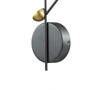 Бра Odeon light 4156/24WL VERICAбра флористика и цветы<br>Серия Verica имеет харизматичный и стильный дизайн. Арматура выполнена из металла и окрашена в  черный матовый цвет. Миниатюрные круглые плафоны окрашены в цвет бронзы. Эффектное сочетание черного и бронзы придадут интерьеру китч и изысканность. Достаточно большое количество плафонов на основании расположены таким образом, что осветят любую точку помещения, а светодиодные источники потребят при этом немного энергии