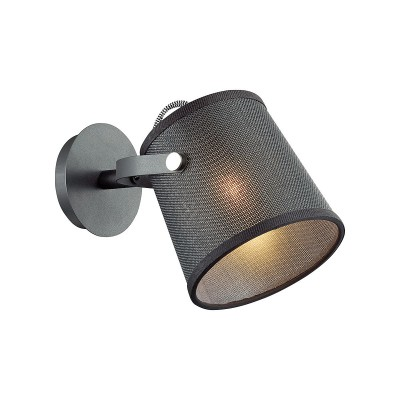 Светильник бра Odeon light 4159/1W LOKAсовременные бра модерн<br>Дизайн светильников Loka отличают стиль, простота и функциональность. Конструкция светильника состоит из текстильного абажура и комбинированного штатива, соединенных тонким шнуром. Высококачественные материалы и современный дизайн привлекает особое внимание, данная серия будет отлично смотреться в больших просторных помещениях в индустриальном стиле и стиле лофт