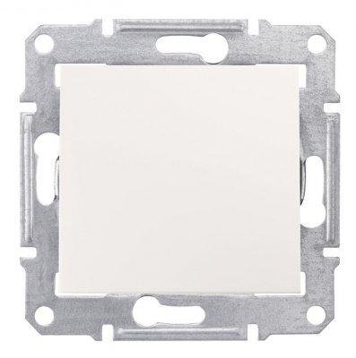 SE Sedna Бел Выключатель 1-клавишный 10 А (сх.1) (SDN0100121)Sedna<br><br><br>Оттенок (цвет): белый