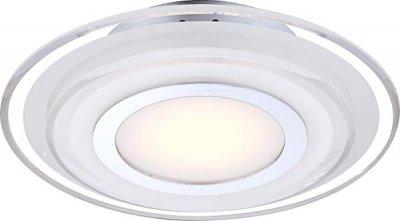Светильник Globo 41683-3 AmosКруглые<br><br><br>S освещ. до, м2: 2<br>Тип товара: Светильник настенный<br>Скидка, %: 63<br>Тип лампы: LED - светодиодная<br>Тип цоколя: LED<br>Количество ламп: 1<br>MAX мощность ламп, Вт: 9<br>Диаметр, мм мм: 320<br>Высота, мм: 65<br>Цвет арматуры: серебристый