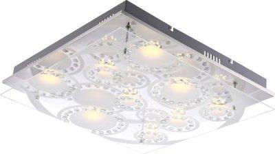Светильник Globo 41690-9 TisoyКвадратные<br>Настенно-потолочные светильники – это универсальные осветительные варианты, которые подходят для вертикального и горизонтального монтажа. В интернет-магазине «Светодом» Вы можете приобрести подобные модели по выгодной стоимости. В нашем каталоге представлены как бюджетные варианты, так и эксклюзивные изделия от производителей, которые уже давно заслужили доверие дизайнеров и простых покупателей.  Настенно-потолочный светильник Globo Globo 41690-9 станет прекрасным дополнением к основному освещению. Благодаря качественному исполнению и применению современных технологий при производстве эта модель будет радовать Вас своим привлекательным внешним видом долгое время. Приобрести настенно-потолочный светильник Globo Globo 41690-9 можно, находясь в любой точке России.<br><br>S освещ. до, м2: 3<br>Тип лампы: LED - светодиодная<br>Тип цоколя: LED<br>Количество ламп: 9<br>Ширина, мм: 500<br>MAX мощность ламп, Вт: 5<br>Длина, мм: 500<br>Высота, мм: 95<br>Цвет арматуры: серебристый