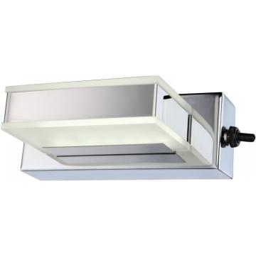 Светильник бра Globo 41697-1 HarperХай-тек<br><br><br>Тип лампы: галогенная / LED-светодиодная<br>Тип цоколя: LED<br>Количество ламп: 1<br>Ширина, мм: 50<br>MAX мощность ламп, Вт: 3<br>Длина, мм: 140<br>Высота, мм: 50<br>Цвет арматуры: серебристый
