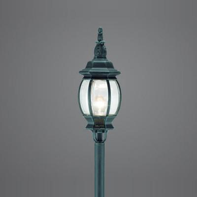 Eglo OUTDOOR CLASSIC 4172 светильник уличныйОдиночные столбы<br>Парковые светильники EGLO OUTDOOR CLASSIC (IP23) — светильники для наружного освещения. Степень защиты IP23 — защита от твердых тел gt  12 мм, защита от дождя. Плафоны из прозрачного пластика. Арматура из алюминия. Светильники рассчитаны на обычную лампу E27 100W max. Цвет: зеленый антик (black-green).<br><br>Тип цоколя: E27<br>MAX мощность ламп, Вт: 60<br>Диаметр, мм мм: 190<br>Размеры основания, мм: 150<br>Высота, мм: 1200<br>Оттенок (цвет): прозрачный<br>Цвет арматуры: зеленый<br>Общая мощность, Вт: 2