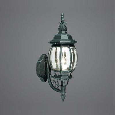 Eglo OUTDOOR CLASSIC 4174 светильник уличныйНастенные<br>Парковые светильники EGLO OUTDOOR CLASSIC (IP23) — светильники для наружного освещения. Степень защиты IP23 — защита от твердых тел gt  12 мм, защита от дождя. Плафоны из прозрачного пластика. Арматура из алюминия. Светильники рассчитаны на обычную лампу E27 100W max. Цвет: зеленый антик (black-green).<br><br>Тип цоколя: E27<br>Ширина, мм: 190<br>MAX мощность ламп, Вт: 60<br>Расстояние от стены, мм: 260<br>Высота, мм: 530<br>Оттенок (цвет): прозрачный<br>Цвет арматуры: зеленый<br>Общая мощность, Вт: 2
