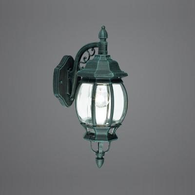 Eglo OUTDOOR CLASSIC 4175 светильник уличныйНастенные<br>Парковые светильники EGLO OUTDOOR CLASSIC (IP23) — светильники для наружного освещения. Степень защиты IP23 — защита от твердых тел gt  12 мм, защита от дождя. Плафоны из прозрачного пластика. Арматура из алюминия. Светильники рассчитаны на обычную лампу E27 100W max. Цвет: зеленый антик (black-green).<br><br>Тип цоколя: E27<br>Ширина, мм: 190<br>MAX мощность ламп, Вт: 60<br>Расстояние от стены, мм: 260<br>Высота, мм: 480<br>Оттенок (цвет): прозрачный<br>Цвет арматуры: зеленый<br>Общая мощность, Вт: 2