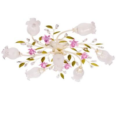 Люстра Mw light 422010607 РосаПотолочные<br>Описание модели 422010607: Светильник из коллекции Роса демонстрирует красоту цветочного ансамбля из бутонов роз и зеленых лепестков! Зелёная листва и соцветия нежно-розового цвета выкованы из металла так мастерски, что выглядят как настоящие цветущие растения. Композиционная форма и реалистичность композиции вдохновляют на создание романтичного интерьера в доме или на солнечной веранде!<br><br>Установка на натяжной потолок: Ограничено<br>S освещ. до, м2: 14<br>Рекомендуемые колбы ламп: свеча<br>Крепление: Планка<br>Тип лампы: накаливания / энергосбережения / LED-светодиодная<br>Тип цоколя: E14<br>Количество ламп: 7<br>MAX мощность ламп, Вт: 40<br>Диаметр, мм мм: 820<br>Высота, мм: 220<br>Поверхность арматуры: глянцевый, матовый<br>Цвет арматуры: зеленый<br>Общая мощность, Вт: 280