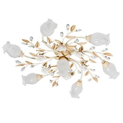 Люстра Mw light 422010907 РосаПотолочные<br>Описание модели 422010907: Светильник из коллекции Роса имеет ряд неоспоримых преимуществ: потолочный тип конфигурации, высокий коэффициент освещённости, красивый романтичный дизайн, универсальность в эксплуатации! Люстра с флористическим дизайном подойдёт для разнообразных помещений квартир, домов или гостиниц, выполненных с учётом современных тенденций для создания уютной атмосферы гостеприимного дома. Металлическое основание, окрашенное в тёплый оттенок античной слоновой кости украшено хрустальными прозрачными каплями. Плафоны и декоративные розетки в центре композиции выполнены из матового стекла с ажурными краями. Яркий и нарядный потолочный светильник из коллекции Роса оснащён универсальными лампами накаливания, и имеет рекомендуемую площадь освещения до 16 кв.м.<br><br>Установка на натяжной потолок: Ограничено<br>S освещ. до, м2: 14<br>Рекомендуемые колбы ламп: свеча<br>Крепление: Планка<br>Тип лампы: накаливания / энергосберегающая / светодиодная<br>Тип цоколя: E14<br>Количество ламп: 7<br>MAX мощность ламп, Вт: 60<br>Диаметр, мм мм: 800<br>Высота, мм: 210<br>Поверхность арматуры: матовый, рельефный<br>Цвет арматуры: белый<br>Общая мощность, Вт: 280