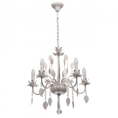 Светильник De Markt 422012005люстры флористика подвесные<br><br><br>S освещ. до, м2: 10<br>Тип лампы: накаливания / энергосбережения / LED-светодиодная<br>Тип цоколя: E14<br>Цвет арматуры: белый<br>Количество ламп: 5<br>Диаметр, мм мм: 560<br>Высота, мм: 1000<br>MAX мощность ламп, Вт: 40