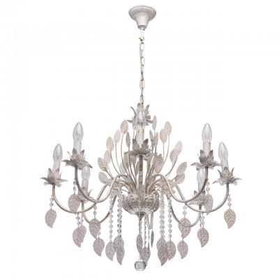 Светильник De Markt 422012108Подвесные<br><br><br>S освещ. до, м2: 16<br>Тип лампы: накаливания / энергосбережения / LED-светодиодная<br>Тип цоколя: E14<br>Цвет арматуры: белый<br>Количество ламп: 8<br>Диаметр, мм мм: 700<br>Высота, мм: 1000<br>MAX мощность ламп, Вт: 40