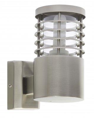 Лампа напольная Brilliant G43281/82 FinniganНастенные<br>Зачастую мы ищем идеальное освещение для своего дома и уделяем этому достаточно много времени. Так, например, если нам нужен светильник с количеством ламп - 1 и цвет плафонов должен быть - неокрашенный, а материал плафонов только стекло! То нам, как вариант, подойдет модель - лампа напольная Brilliant G43281/82.<br><br>S освещ. до, м2: до 3<br>Тип товара: Светильник уличный<br>Тип лампы: накаливания / энергосбережения / LED-светодиодная<br>Тип цоколя: E27<br>Количество ламп: 1<br>MAX мощность ламп, Вт: 9<br>Диаметр, мм мм: 100<br>Высота, мм: 185<br>Цвет арматуры: серебристый