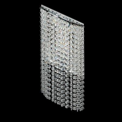Светильник настенный бра Chiaro 437022005 КларисХрустальные<br>Описание модели 437022005: Ослепительный блеск, восхитительные переливы света, праздничное сияние – глядя на светильники из коллекции Кларис,  вы каждый раз  словно попадаете в сказку.     Бра   оригинальной ассиметричной формы. Они украшены сияющими хрустальными подвесками, и оснащены поворотными светодиодами, что дает возможность задавать направление света, играя с ним, и создавая необычные акценты в интерьере. Рекомендуемая площадь освещения светильников порядка 31 кв.м.<br><br>S освещ. до, м2: 6<br>Тип лампы: Накаливания / энергосбережения / светодиодная<br>Тип цоколя: LED<br>Цвет арматуры: серебристый<br>Количество ламп: 5<br>Ширина, мм: 130<br>Длина, мм: 190<br>Высота, мм: 500<br>Поверхность арматуры: матовый<br>MAX мощность ламп, Вт: 3<br>Общая мощность, Вт: 15