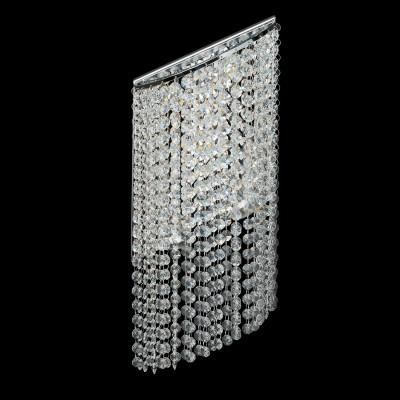 Светильник настенный бра Chiaro 437022105 КларисХрустальные<br>Описание модели 437022105: Ослепительный блеск, восхитительные переливы света, праздничное сияние – глядя на светильники из коллекции Кларис,  вы каждый раз  словно попадаете в сказку.     Бра   оригинальной ассиметричной формы. Они украшены сияющими хрустальными подвесками, и оснащены поворотными светодиодами, что дает возможность задавать направление света, играя с ним, и создавая необычные акценты в интерьере. Рекомендуемая площадь освещения светильников порядка 31 кв.м.<br><br>S освещ. до, м2: 6<br>Тип лампы: светодиодная<br>Тип цоколя: LED<br>Количество ламп: 5<br>Ширина, мм: 130<br>MAX мощность ламп, Вт: 3<br>Длина, мм: 190<br>Высота, мм: 500<br>Поверхность арматуры: глянцевый<br>Цвет арматуры: серебристый<br>Общая мощность, Вт: 15