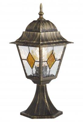 Светильник уличный Brilliant 43884/86 JasonФонари на столб<br>Зачастую мы ищем идеальное освещение для своего дома и уделяем этому достаточно много времени. Так, например, если нам нужен светильник с количеством ламп - 1 и цвет плафонов должен быть - неокрашенный, а материал плафонов только стекло! То нам, как вариант, подойдет модель - светильник уличный Brilliant 43884/86.<br><br>S освещ. до, м2: до 6<br>Тип лампы: накаливания / энергосбережения / LED-светодиодная<br>Тип цоколя: E27<br>Цвет арматуры: золотой<br>Количество ламп: 1<br>Ширина, мм: 180<br>Диаметр, мм мм: 170<br>Высота, мм: 440<br>MAX мощность ламп, Вт: 100
