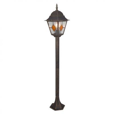 Светильник уличный Brilliant 43885/86 JasonОдиночные фонари<br>Зачастую мы ищем идеальное освещение для своего дома и уделяем этому достаточно много времени. Так, например, если нам нужен светильник с количеством ламп - 1 и цвет плафонов должен быть - неокрашенный, а материал плафонов только стекло! То нам, как вариант, подойдет модель - светильник уличный Brilliant 43885/86.<br><br>S освещ. до, м2: до 6<br>Тип товара: Светильник уличный<br>Тип лампы: накаливания / энергосбережения / LED-светодиодная<br>Тип цоколя: E27<br>Количество ламп: 1<br>Ширина, мм: 195<br>MAX мощность ламп, Вт: 100<br>Высота, мм: 1120<br>Цвет арматуры: золотой