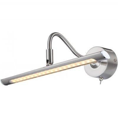 Светильник Globo 44030 PictureДля картин/зеркал<br><br><br>Тип товара: Подсветка для картин<br>Скидка, %: 21<br>Тип лампы: галогенная / LED-светодиодная<br>Тип цоколя: LED<br>Количество ламп: 1<br>Ширина, мм: 105<br>MAX мощность ламп, Вт: 4<br>Длина, мм: 310<br>Высота, мм: 105<br>Цвет арматуры: серебристый
