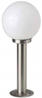 Светильник уличный Brilliant 44084/82 AalborgФонари на столб<br>Зачастую мы ищем идеальное освещение для своего дома и уделяем этому достаточно много времени. Так, например, если нам нужен светильник с количеством ламп - 1 и цвет плафонов должен быть - белый, а материал плафонов только стекло! То нам, как вариант, подойдет модель - светильник уличный Brilliant 44084/82.<br><br>S освещ. до, м2: до 4<br>Тип лампы: накаливания / энергосбережения / LED-светодиодная<br>Тип цоколя: E27<br>Цвет арматуры: серебристый<br>Количество ламп: 1<br>Диаметр, мм мм: 200<br>Высота, мм: 440<br>MAX мощность ламп, Вт: 60
