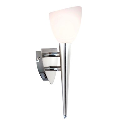 Светильник Globo 4410-1N SienaСовременные<br><br><br>Тип лампы: галогенная/LED<br>Тип цоколя: G9<br>Количество ламп: 1<br>Ширина, мм: 125<br>MAX мощность ламп, Вт: 33<br>Диаметр, мм мм: 80<br>Высота, мм: 290<br>Цвет арматуры: серебристый