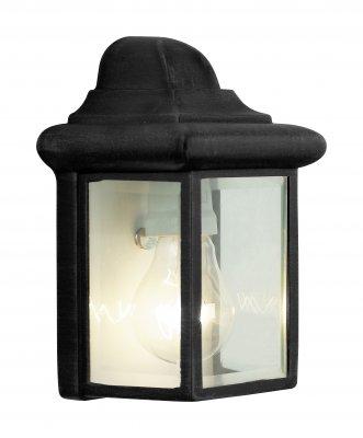 Светильник Brilliant 44280/06 NewportНастенные<br><br><br>S освещ. до, м2: до 4<br>Тип товара: Светильник уличный<br>Тип лампы: накаливания / энергосбережения / LED-светодиодная<br>Тип цоколя: E27<br>Количество ламп: 1<br>Ширина, мм: 145<br>MAX мощность ламп, Вт: 60<br>Высота, мм: 220<br>Цвет арматуры: черный