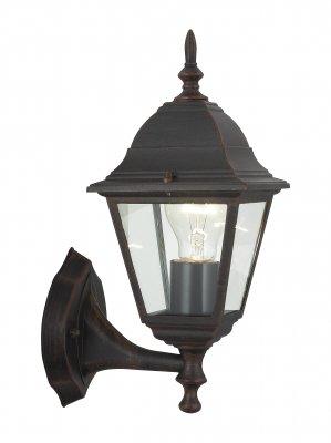 Светильник Brilliant 44281/55 NewportНастенные<br><br><br>S освещ. до, м2: до 4<br>Тип товара: Светильник уличный<br>Тип лампы: накаливания / энергосбережения / LED-светодиодная<br>Тип цоколя: E27<br>Количество ламп: 1<br>MAX мощность ламп, Вт: 60<br>Высота, мм: 340<br>Цвет арматуры: коричневый
