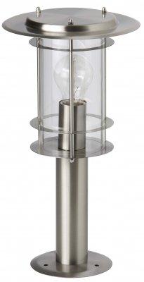 Светильник уличный Brilliant 44784/82 YorkОдиночные фонари<br>Зачастую мы ищем идеальное освещение для своего дома и уделяем этому достаточно много времени. Так, например, если нам нужен светильник с количеством ламп - 1 и цвет плафонов должен быть - неокрашенный, а материал плафонов только стекло! То нам, как вариант, подойдет модель - светильник уличный Brilliant 44784/82.<br><br>S освещ. до, м2: до 4<br>Тип товара: Светильник уличный<br>Тип лампы: накаливания / энергосбережения / LED-светодиодная<br>Тип цоколя: E27<br>Количество ламп: 1<br>MAX мощность ламп, Вт: 60<br>Диаметр, мм мм: 90<br>Высота, мм: 400<br>Цвет арматуры: серебристый