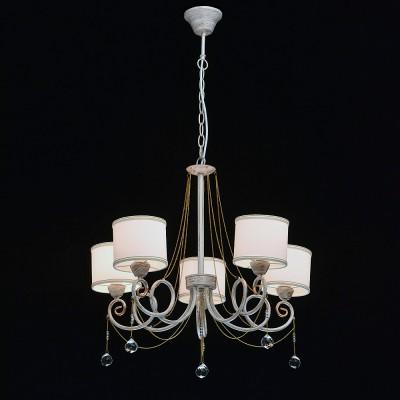 Mw light 448012405 Светильниклюстры подвесные классические<br><br><br>Установка на натяжной потолок: Да<br>S освещ. до, м2: 10<br>Тип лампы: Накаливания / энергосбережения / светодиодная<br>Тип цоколя: E14<br>Количество ламп: 5<br>Диаметр, мм мм: 600<br>Высота, мм: 710 - 960<br>MAX мощность ламп, Вт: 40