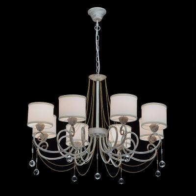 Mw light 448012508 СветильникПодвесные<br><br><br>Установка на натяжной потолок: Да<br>S освещ. до, м2: 16<br>Тип лампы: Накаливания / энергосбережения / светодиодная<br>Тип цоколя: E14<br>Количество ламп: 8<br>MAX мощность ламп, Вт: 40<br>Диаметр, мм мм: 800<br>Высота, мм: 710 - 1000