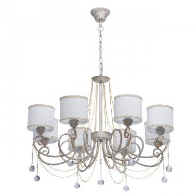Mw light 448012508 СветильникПодвесные<br><br><br>Установка на натяжной потолок: Да<br>S освещ. до, м2: 16<br>Тип лампы: Накаливания / энергосбережения / светодиодная<br>Тип цоколя: E14<br>Количество ламп: 8<br>Диаметр, мм мм: 800<br>Высота, мм: 710 - 1000<br>MAX мощность ламп, Вт: 40