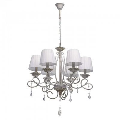Светильник De Markt 448012906Подвесные<br><br><br>S освещ. до, м2: 12<br>Тип лампы: накаливания / энергосбережения / LED-светодиодная<br>Тип цоколя: E14<br>Цвет арматуры: белый/золотой<br>Количество ламп: 6<br>Диаметр, мм мм: 600<br>Высота, мм: 1100<br>MAX мощность ламп, Вт: 40