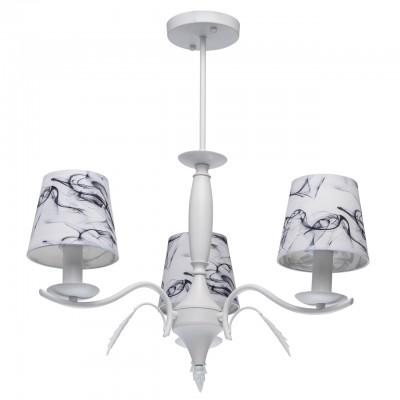 Светильник De Markt 448013503Подвесные<br><br><br>S освещ. до, м2: 6<br>Тип лампы: накаливания / энергосбережения / LED-светодиодная<br>Тип цоколя: E14<br>Цвет арматуры: белый<br>Количество ламп: 3<br>Диаметр, мм мм: 560<br>Высота, мм: 600<br>MAX мощность ламп, Вт: 40