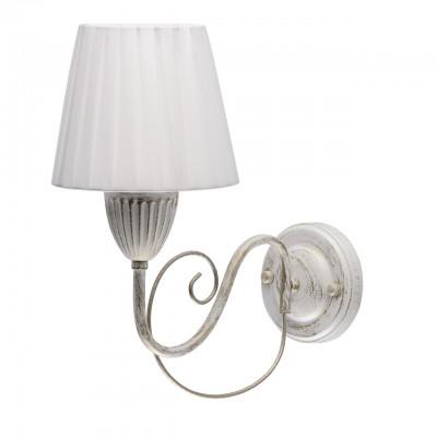 Светильник De Markt 448023401классические бра<br><br><br>Тип лампы: Накаливания / энергосбережения / светодиодная<br>Тип цоколя: E14<br>Цвет арматуры: белый/золотой<br>Количество ламп: 1<br>Ширина, мм: 150<br>Длина, мм: 320<br>Высота, мм: 290<br>MAX мощность ламп, Вт: 40