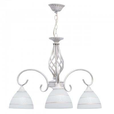 Светильник De Markt 450018103люстры подвесные классические<br><br><br>S освещ. до, м2: 9<br>Тип лампы: накаливания / энергосбережения / LED-светодиодная<br>Тип цоколя: E27<br>Цвет арматуры: белый/золотой<br>Количество ламп: 3<br>Диаметр, мм мм: 580<br>Высота, мм: 580<br>MAX мощность ламп, Вт: 60