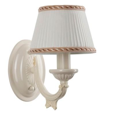 Светильник настенный бра Mw light 450022601 АриаднаКлассические<br>Подвесной светильник Ариадна выполнен в приятных пастельных тонах и имеет мягкие плавные линии. Классическая форма светильника со светлыми текстильными абажурами.<br><br>Крашеное металлическое основание, текстильный абажур.<br><br>S освещ. до, м2: 3<br>Тип лампы: накаливания / энергосбережения / LED-светодиодная<br>Тип цоколя: E14<br>Цвет арматуры: белый<br>Количество ламп: 1<br>Ширина, мм: 160<br>Длина, мм: 240<br>Высота, мм: 250<br>Поверхность арматуры: матовый<br>MAX мощность ламп, Вт: 60<br>Общая мощность, Вт: 60