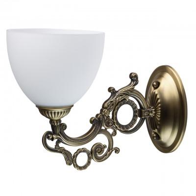 Светильник Mw-light 450026701Классика<br>450026701 - это Роскошная люстра из коллекции «Ариадна» выполнена в лучших традициях классического стиля. Матовое металлическое основание цвета античной бронзы гармонично сочетается с широкими плафонами. Выполненные из матового белого стекла, они идеально подчеркивают бронзовый оттенок. В тон основанию и декор рожков, а множество изящных завитков придают композиции особенную грациозность.<br><br>S освещ. до, м2: 3<br>Тип товара: Светильник настенный бра<br>Тип лампы: накаливания / энергосбережения / LED-светодиодная<br>Тип цоколя: E27<br>Количество ламп: 1<br>Ширина, мм: 150<br>MAX мощность ламп, Вт: 60<br>Длина, мм: 200<br>Высота, мм: 300