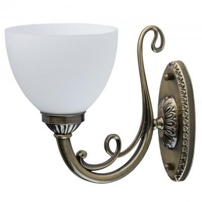 Светильник Mw-light 450026901классические бра<br>450026901 - это Изящная люстра из коллекции «Ариадна» прекрасно дополнит обстановку в классическом стиле. Глянцевое основание из металла цвета античной бронзы выгодно подчеркивают белые плафоны из матового стекла. В люстре отточена каждая деталь: грациозно изогнутые рожки, резные розетки, декоративные изогнутые завитки в тон основанию.<br><br>S освещ. до, м2: 3<br>Тип лампы: накаливания / энергосбережения / LED-светодиодная<br>Тип цоколя: E27<br>Количество ламп: 1<br>Ширина, мм: 150<br>Длина, мм: 200<br>Высота, мм: 270<br>MAX мощность ламп, Вт: 60