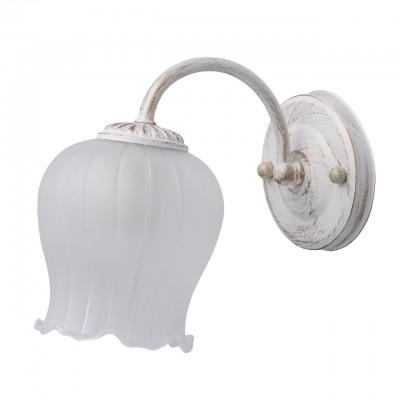 Светильник De Markt 450027801Флористика<br><br><br>Тип лампы: Накаливания / энергосбережения / светодиодная<br>Тип цоколя: E27<br>Ширина, мм: 130<br>MAX мощность ламп, Вт: 60<br>Длина, мм: 190<br>Высота, мм: 200<br>Цвет арматуры: белый с золотистой патиной