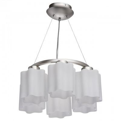 451011306 Mw light СветильникПодвесные<br><br><br>Установка на натяжной потолок: Да<br>S освещ. до, м2: 18<br>Тип лампы: Накаливания / энергосбережения / светодиодная<br>Количество ламп: 6<br>Диаметр, мм мм: 450<br>Высота, мм: 1500<br>MAX мощность ламп, Вт: 60