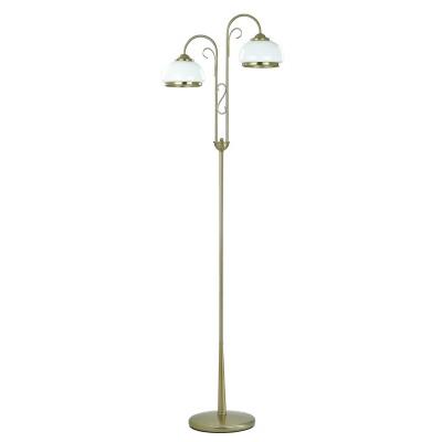 Alfa PARIS 4513 напольный светильникКлассические<br><br><br>Крепление: Напольное<br>Тип цоколя: E27<br>Цвет арматуры: античный золотой<br>Количество ламп: 2<br>Диаметр, мм мм: 510<br>Высота, мм: 1700<br>MAX мощность ламп, Вт: 60