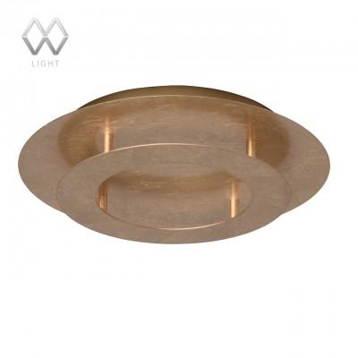 Люстра Mw light 452011701 ГалатеяКруглые<br>Описание модели 452011701: Люстра из коллекции «Галатея» - мечта ценителей нестандартных решений в интерьере. Светильник в виде двух дисков из металла  в двух цветовых вариантах – цвета серебра или цвета золота.  Архитектурный свет, ультрасовременный гламурный дизайн и необычное исполнение создают по-настоящему завораживающую композицию! Светильник можно использовать как в качестве потолочной люстры,  так и для декорирования стен, создавая необычные световые акценты.<br><br>S освещ. до, м2: 6<br>Крепление: Планка<br>Тип лампы: LED<br>Тип цоколя: LED<br>MAX мощность ламп, Вт: 18<br>Диаметр, мм мм: 400<br>Высота, мм: 80<br>Цвет арматуры: Золотой