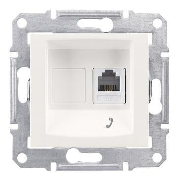 SE Sedna Беж Розетка ТЛФ 1-ая RJ11 (SDN4101147)Sedna<br><br><br>Тип товара: розетка Int/tel<br>Оттенок (цвет): бежевый