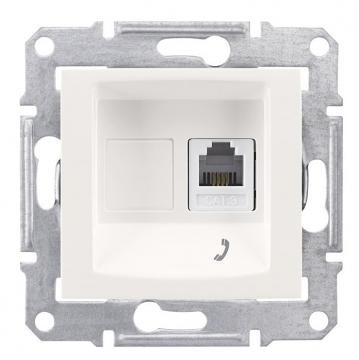 SE Sedna Бел Розетка ТЛФ 1-ая RJ11 (SDN4101121)Sedna<br><br><br>Оттенок (цвет): белый
