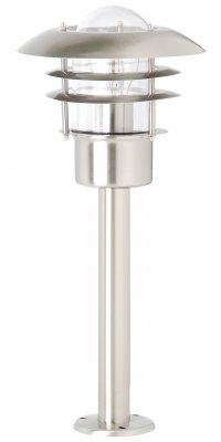 Светильник уличный Brilliant 45784/82 TerrenceОдиночные столбы<br>Зачастую мы ищем идеальное освещение для своего дома и уделяем этому достаточно много времени. Так, например, если нам нужен светильник с количеством ламп - 1 и цвет плафонов должен быть - неокрашенный, а материал плафонов только стекло! То нам, как вариант, подойдет модель - светильник уличный Brilliant 45784/82.<br><br>S освещ. до, м2: до 4<br>Тип лампы: накаливания / энергосбережения / LED-светодиодная<br>Тип цоколя: E27<br>Количество ламп: 1<br>MAX мощность ламп, Вт: 60<br>Диаметр, мм мм: 220<br>Высота, мм: 500<br>Цвет арматуры: серебристый