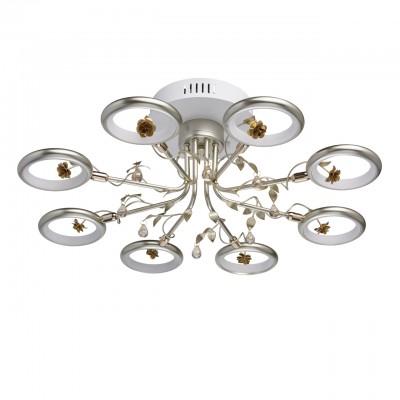 Mw light 459011408 СветильникПотолочные<br><br><br>Установка на натяжной потолок: Да<br>S освещ. до, м2: 19<br>Тип лампы: LED<br>Тип цоколя: LED<br>MAX мощность ламп, Вт: 48<br>Диаметр, мм мм: 620<br>Высота, мм: 220