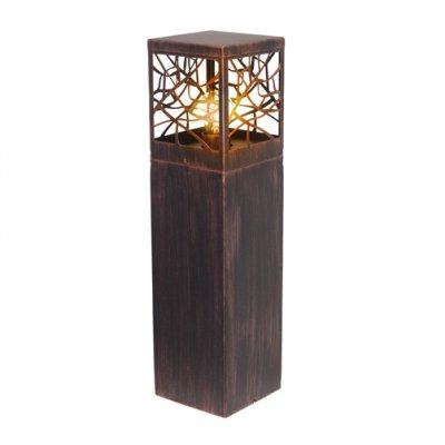 Светильник уличный Brilliant 46394/55 WhitneyОдиночные столбы<br>Зачастую мы ищем идеальное освещение для своего дома и уделяем этому достаточно много времени. Так, например, если нам нужен светильник с количеством ламп - 1 и цвет плафонов должен быть - неокрашенный, а материал плафонов только пластик! То нам, как вариант, подойдет модель - светильник уличный Brilliant 46394/55.<br><br>S освещ. до, м2: до 4<br>Тип лампы: накаливания / энергосбережения / LED-светодиодная<br>Тип цоколя: E27<br>Цвет арматуры: коричневый<br>Количество ламп: 1<br>Ширина, мм: 150<br>Высота, мм: 590<br>MAX мощность ламп, Вт: 60