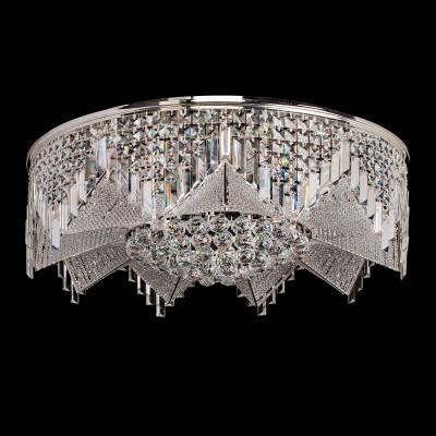 Люстра Chiaro 464014939 БризПотолочные<br>Блистающий декор светильника Бриз образует форму крупного драгоценного цветка. Центральная часть декорирована крупными элементами из хрусталя, в которых мерцают искристые блики. Лепестки в потолочной люстре конструктивно представлены из ансамбля хрустальных бусин, нанизанных на металлические нити. В различных режимах освещения светильник Бриз перевоплощается в настоящее произведение хрустальной симфонии, каждый раз удивляя игрой хрустальных переливов<br><br>Установка на натяжной потолок: Да<br>S освещ. до, м2: 27<br>Рекомендуемые колбы ламп: полусферическая с рефлектором<br>Крепление: Планка<br>Тип лампы: LED - светодиодная<br>Тип цоколя: LED<br>Количество ламп: 39<br>Диаметр, мм мм: 800<br>Высота, мм: 310<br>Поверхность арматуры: глянцевый<br>Цвет арматуры: серебристый<br>Общая мощность, Вт: 62,4