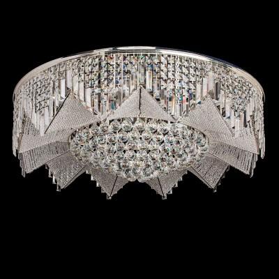 Люстра Chiaro 464015051 БризПотолочные<br>Блистающий декор светильника Бриз образует форму крупного драгоценного цветка. Центральная часть декорирована крупными элементами из хрусталя, в которых мерцают искристые блики. Лепестки в потолочной люстре конструктивно представлены из ансамбля хрустальных бусин, нанизанных на металлические нити. В различных режимах освещения светильник Бриз перевоплощается в настоящее произведение хрустальной симфонии, каждый раз удивляя игрой хрустальных переливов<br><br>Установка на натяжной потолок: Да<br>Крепление: Планка<br>Тип товара: Люстра<br>Скидка, %: 47<br>Тип лампы: LED - светодиодная<br>Тип цоколя: LED<br>Количество ламп: 51<br>Диаметр, мм мм: 1000<br>Высота, мм: 350